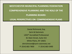 Legal Perspectives on Comprehensive Plans